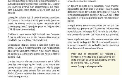 Bulletin d'information spéciale des RSG, mai 2011