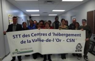 Les travailleurs du CH privé Le Domaine des pionniers renouvellent leur convention