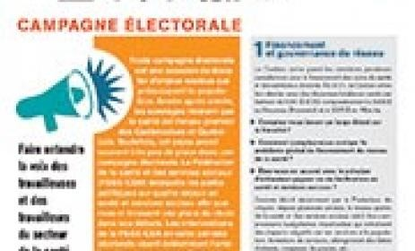 Campagne électorale 2014 – Tract