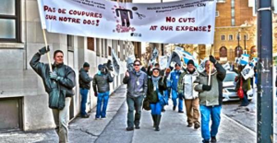 Les employés du CUSM manifestent aujourd'hui