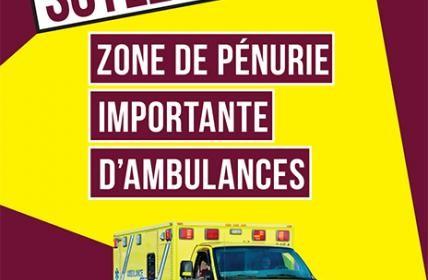 Manque flagrant de ressources ambulancières à Urgences-santé