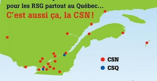 La CSN : des services de proximité pour les RSG de toutes les régions