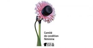 Logo du comité de la condition féminine de la FSSS-CSN