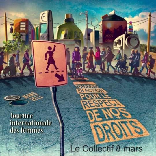 8 mars 2011 : Toujours en action, pour le respect de nos droits!