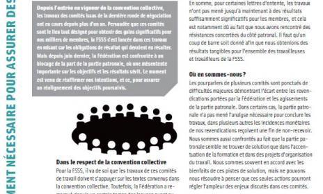 Bulletin Info-Négo d'octobre 2012