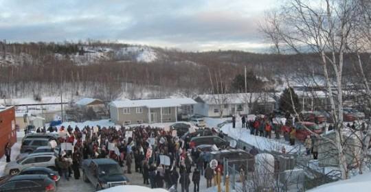 200 manifestants contre la fusion de deux CSSS à Témiscaming