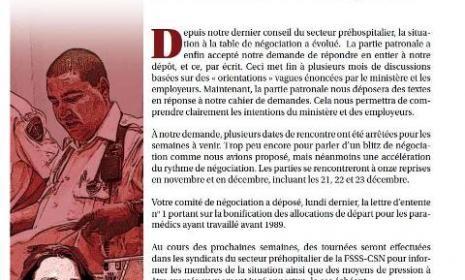 Bulletin Info-Négo no 9 des préhospitaliers