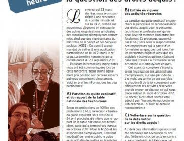Bulletin d'information de la catégorie 4 de mars 2012