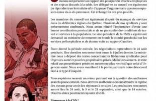 Bulletin Info-négo no 7 des préhospitaliers