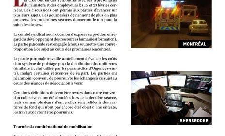 Bulletin Info-négo no 16 des préhospitaliers