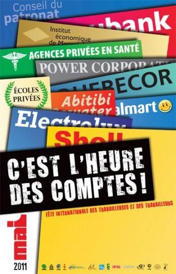 Journée internationale des travailleuses et travailleurs : C'est l'heure des comptes!