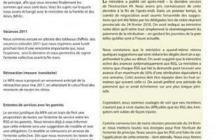 Bulletin Info-RSG du 16 mars 2011