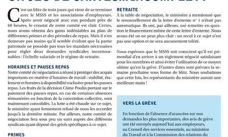 Bulletin Info-négo no. 26 du secteur préhospitalier