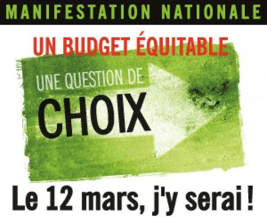 Consultations budgétaires : d'autres choix sont possibles, selon l'Alliance sociale