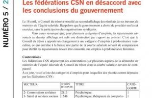 Info-maintien équité du 24 mars 2011 : l'affichage final retardé