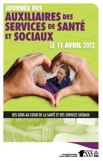 Affiche de la Journée des auxiliaires aux services de santé et sociaux