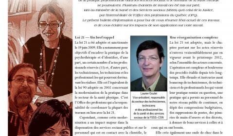 Bulletin d'information de la catégorie 4 – novembre 2011