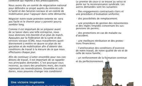 Bulletin Info-négos RI-RTF, janvier 2011