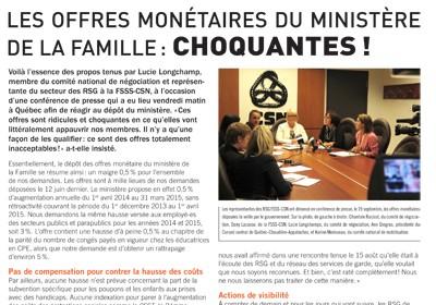 Bulletin Info-Négo #19 des RSG de septembre 2014