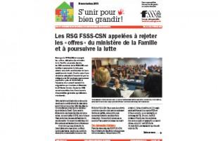 Les RSG FSSS-CSN appelées à rejeter les « offres » du ministère de la Famille et à poursuivre la lutte