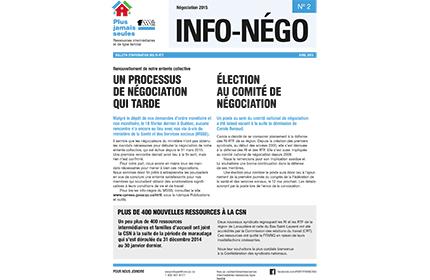 Bulletin Info-négo #2 des RI-RTF