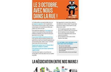 Tract des secteurs privés pour la manifestation du 3 octobre 2015