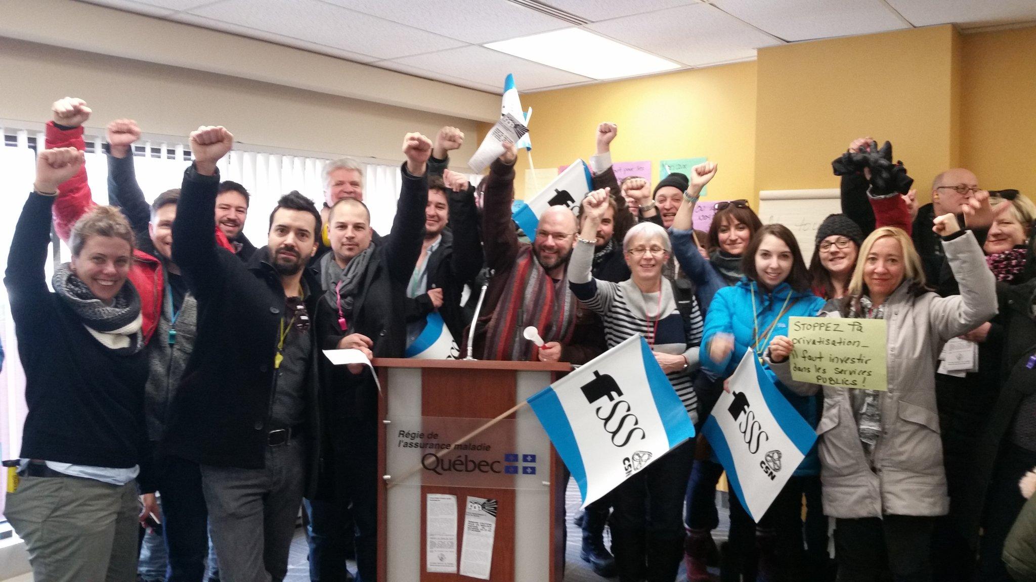 La FSSS-CSN occupe les bureaux de la RAMQ pour dénoncer le laxisme envers le corps médical