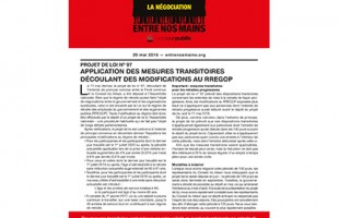 Bulletin d'information sur le RREGOP