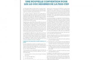 Une nouvelle convention pour les 110 000 membres de la FSSS-CSN