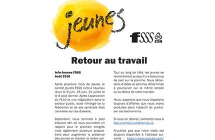 Bulletin Info-Jeunes FSSS-CSN
