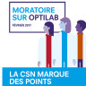 Projet Optilab : La CSN marque des points