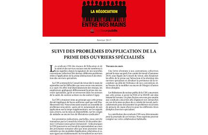 Bulletin Info-Ouvriers de février 2017