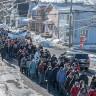 La population de Sorel-Tracy dans la rue pour le bronchoscope