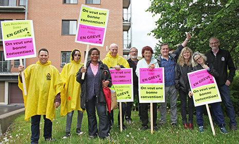 Les employés de Dollard-des-Ormeaux en grève contre le milliardaire de l'âge d'or