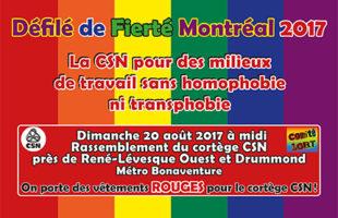 La CSN sera présente au défilé de Fierté Montréal