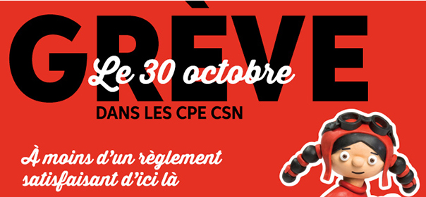 Il y aura grève dans 578 installations de CPE le lundi 30 octobre