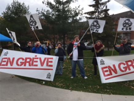 Les travailleurs du Centre d'hébergement privé Les Promenades du parc à Longueuil sont en grève