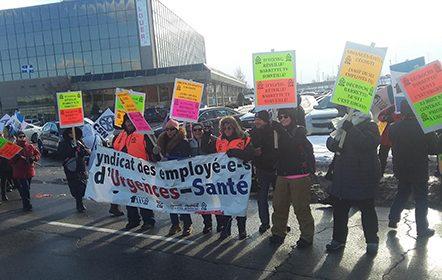 Les salarié-es du Centre de communication d'Urgences-santé votent 10 jours de grève supplémentaires