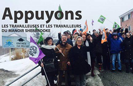Fin de la grève au Manoir Sherbrooke