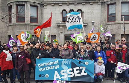 Les syndicats de la FSSS-CSN en action contre la surcharge de travail
