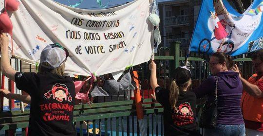 Nouvelle grève des 350 travailleuses des CPE du Coeur-du-Québec les 8 et 9 mai
