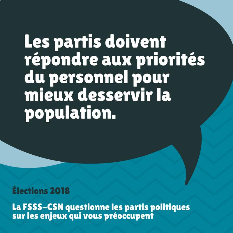 Réponse des partis politiques au questionnaire de la FSSS-CSN