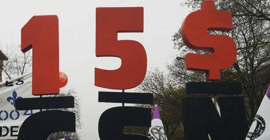 La déclaration commune pour le salaire minimum à 15 $ l'heure est lancée!