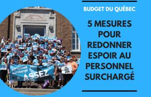La FSSS-CSN présente ses 5 demandes pour le Budget du Québec 2020