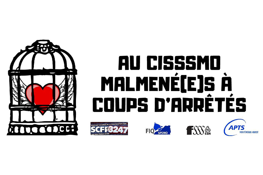 Les quatre syndicats du CISSSMO manifestent ensemble