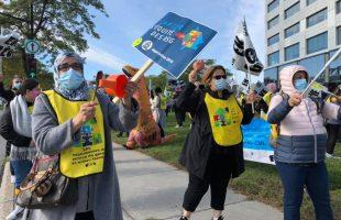 Après avoir touché toutes les régions, la grève tournante des RSG se conclut à Montréal et Laval